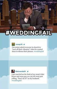 #WeddingFail