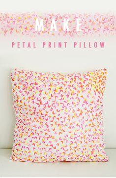 DIY Petal Print Pillow