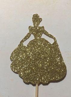 Cinderella Silhouette, Disney Princess Silhouette, Silhouette Cake, Disney Princess Birthday, Cinderella Birthday, Girl Birthday, Cinderella Disney, Princess Cupcake Toppers, Princess Cupcakes