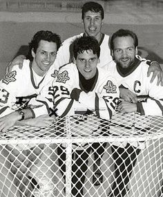 Wendel Clark, Doug Gilmour, Dave Andreychuk, and Felix Potvin. What a great squad! Hockey Goalie, Ice Hockey, Maple Leafs Hockey, Hockey Rules, The Sporting Life, American Sports, Sports Figures, National Hockey League, Toronto Maple Leafs