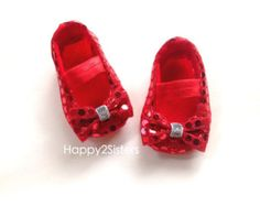 Wizard of Oz Baby Shoes, Baby Girl Shoes, Baby soft sole shoes, Newborn Shoes, Toddlers girls Shoes, Red ruby baby shoes, baby costumes.