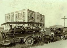 School bus was taken in 1921 in West Virginia