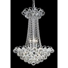 6 Lights crystal chandelier Chrome plated