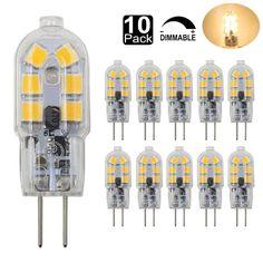 2W G4 LED Bi Pin Bulb Dimmable  Light Bulb AC/DC 12V Warm White 10 Pack G4 Base  #Dayker