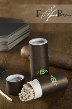 These personalized monogram barrel match boxes are a unique and tasteful addition to favors, events, weddings, retirement parties, anniversaries, birthdays and more.