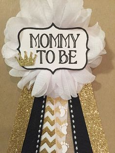 DIY Black, White, and Gold Baby Shower | Baby Shower | Pinterest ...