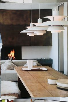 Perfect mix of rustic and contemporary style. P.H Lamp