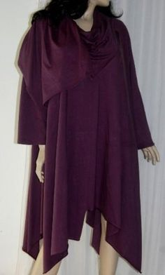 PLUM BLOUSE COWL ASYM LAGENLOOK - FITS (ONE SIZE) - L XL 1X - M861S LOTUSTRADERS LOTUSTRADERS. $50.99