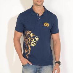 The Golden Lion Polo in Navy from #shersingh #stylish #menswear
