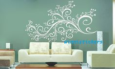 Vinyl Wall Decal Nature Design Tree Wall Decals Wall by WinneDEGIN, $45.00