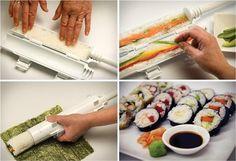 Kaboom! Easiest way to sushi: Sushi Bazooka.