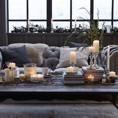 Antiqued Dinner Candle Holder | The White Company