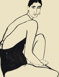 Fashion Illustration Ideas Different Strokes: From Paint to Swimsuits Life Drawing, Painting & Drawing, Art Sketches, Art Drawings, Figurative Art, Oeuvre D'art, Art Inspo, Line Art, Modern Art