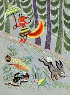 Library things: The fox in Russian book illustrations. Drawings by Boris Kalaushin