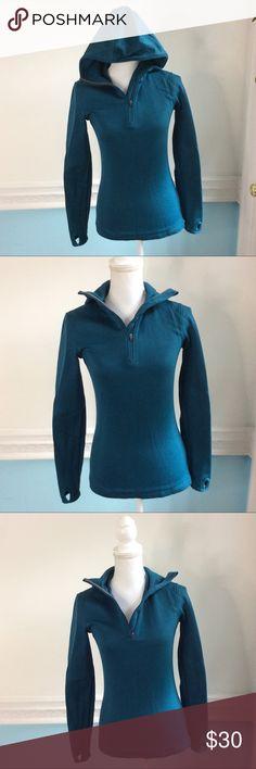 Merrell Half Zip Hoodie Sweatshirt In used condition, knobby on the inside but still a great Sweatshirt. Select wick. Size small Merrell Tops Sweatshirts & Hoodies
