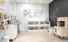 spaces: our creative play space with tons of storage and organizational tips by sarahmstyle.ca