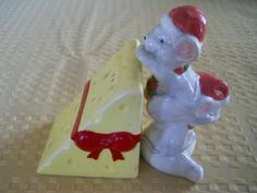 Christmas Mice and Cheese Salt and Pepper Shakers  by DEWshophere, $10.99
