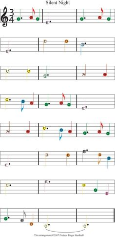 easy guitar songs color coded christmas sheet music for silent night Trumpet Sheet Music, Clarinet Sheet Music, Violin Music, Recorder Music, Piano Sheet Music, Music Sheets, Piano Songs, Guitar Songs, Ukulele