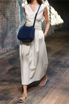 summer minimalist fashion - white dress