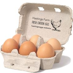 Egg Carton Rubber Stamp Farm Fresh Eggs by SouthernPaperAndInk
