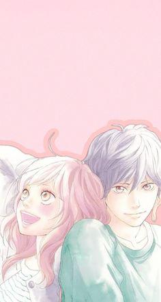 Anime Shojo, Manga Anime, Anime Love Couple, Cute Anime Couples, Anime Art Girl, Manga Art, Ao Haru Ride Kou, Futaba Y Kou, Lovely Complex