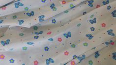 C6289 Small FLORAL Flowers with Butterfly by TheFabricShopUK, £4.99