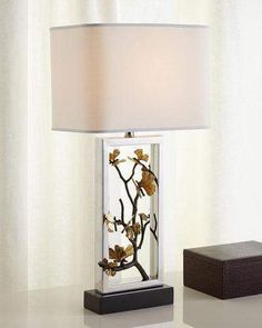 Shop Butterfly Ginkgo Table Lamp from Michael Aram at Horchow, where you'll find new lower shipping on hundreds of home furnishings and gifts. Chandeliers, Fabric Shades, Home Lighting, Table Lighting, Lighting Design, Inspired Homes, Hanging Lights, Home And Living, Living Room