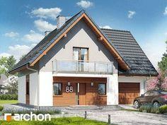 Projekt domu Dom w sasankach - ARCHON+ Home Fashion, House Plans, Cabin, Mansions, House Styles, Houses, Home Decor, Arquitetura, Ceilings