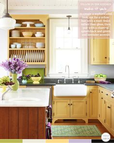 Colorful Cottage Style Kitchen