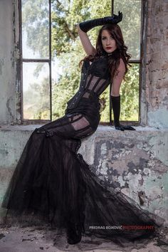 gothicandamazing:    Model: Miss Andrea DoloresPhoto by: ©Predrag Bojković photographyCamera Asisstant: Tamara PavisicCorset by: Villena Viscaria Clothing Welcome to Gothic and Amazing |www.gothicandamazing.org