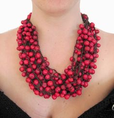 deep red acai necklace