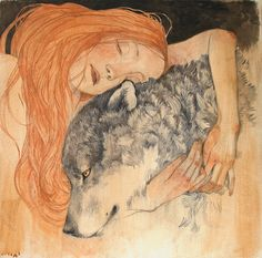 "Limited edition giclée print of original painting by Lucy Campbell - ""Into the Arms of the Wild"" by LupiArt on Etsy"