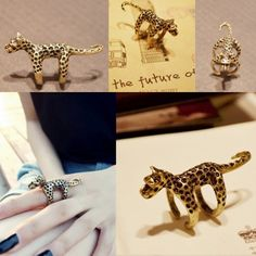 Unique Style #Leopard Cocktail #Ring