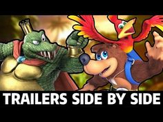 Banjo and Kazooie have been finally confirmed as DLC characters for Super Smash Bros. And their reveal trailer is EXTREMELY similar to King K. Banjo Kazooie, Super Smash Bros, Trailers, King, Pictures, Youtube, Gaming, Photos, Hang Tags