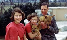 Buckingham Palace has shared rare images of the Queen to celebrate her birthday. This undated photo shows then Princess Elizabeth, left, posing with her sister Princess Margaret and their father King George VI in Britain. George Vi, Young Queen Elizabeth, Queen 90th Birthday, Hm The Queen, Princess Eugenie, Princess Diana, Royal Princess, Princess Charlotte, Isabel Ii