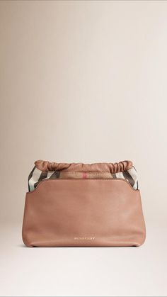 Burberry The Little Crush In Leather And House Check