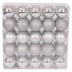 50-Piece Ornament Set - Silver