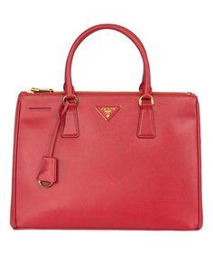 Prada Red Leather Galleria Saffiano Tote | zulily