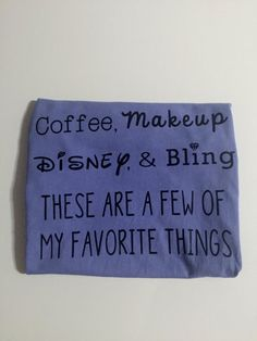 Coffee Makeup Disney and Bling Shirt by WhimsicalWhiskersCo