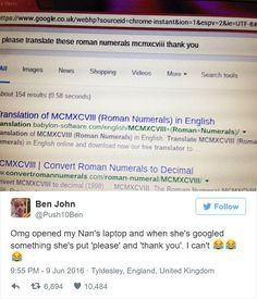 Guy Shares His 85YearOld Grannys Polite Google Search And It Goes Viral