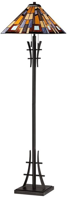 Robert Louis Tiffany Jewel Tone Art Glass Floor Lamp - - Amazon.com