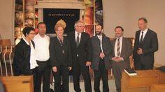 Mit dem Staatssekretär aus dem NRW Innenministerium, unserem Landtagskandidaten Dr. Roland Adelmann und der Israelischen Besuchergruppe aus Mate Jehuda, die in Nümbrecht zu Besuch war, bei der feierlichen Gedenkfeier zum Yom Ha'Shoa in der Synagoge zu Düsseldorf.