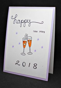 New Years Card by Ginapooh designs  | Years of Cheers Stamp Set by Newton's Nook Designs #newtonsnook #handmade