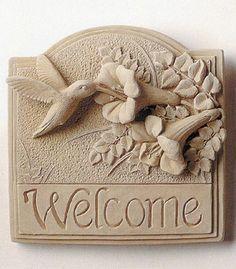 Most recent Photographs Clay pottery art Suggestions Hummingbird Welcome Plaque — Carruth Studio: Wa Clay Wall Art, Ceramic Wall Art, Ceramic Clay, Ceramic Painting, Hand Built Pottery, Slab Pottery, Ceramic Pottery, Pottery Art, Clay Art Projects