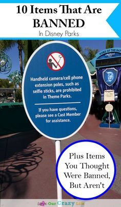 If you are heading to a Disney Park, don't get stuck at security by bringing items banned at Diseny. Here is a list of 10 items that are not permitted in the parks, plus a few items you have heard are banned- but really aren't.