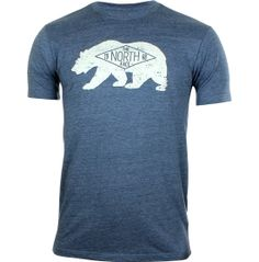 Update your collection of t-shirts from The North Face® with the Men's Heritage Bear T-Shirt. This short sleeve tee will turn into your go-to for any activity with its flattering slim fit and super soft triblend fabric. The screen-printed graphic on the front will allow you to show off your pride in The North Face®. Whether you're lounging around or going out, you'll always want to throw on the Men's Heritage Bear T-Shirt.