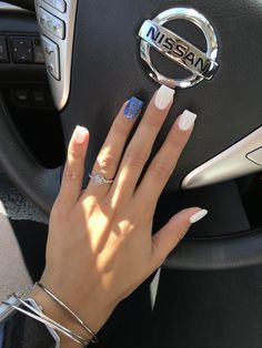 Short square nail is generally suitable for people who have relatively long manicure beds, and their hands look relatively slim. This kind of short square nails Short Square Acrylic Nails, Short Square Nails, Summer Acrylic Nails, Best Acrylic Nails, Summer Nails, Square Nail Designs, Cute Nail Designs, Summer Nail Designs, July 4th Nails Designs