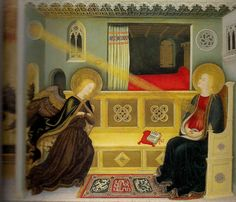 Gentile da Fabriano, Annunciation, ca. 1425, Original location: Florence, Collection: private collection of Barbara Piasecka Johnson