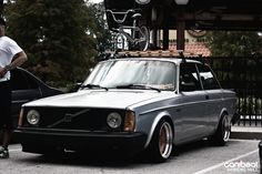 Amazing stanced turbo brick. #Volvo #244 #bmx