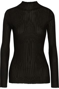 Balmain | Ribbed-knit top | NET-A-PORTER.COM